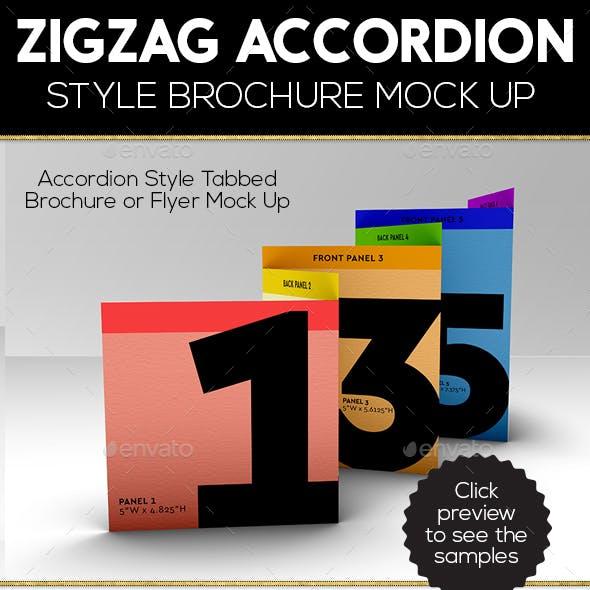 Accordion ZigZag Brochure Mock Up