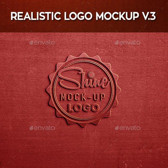 Realistic Logo Mock-Up V.3