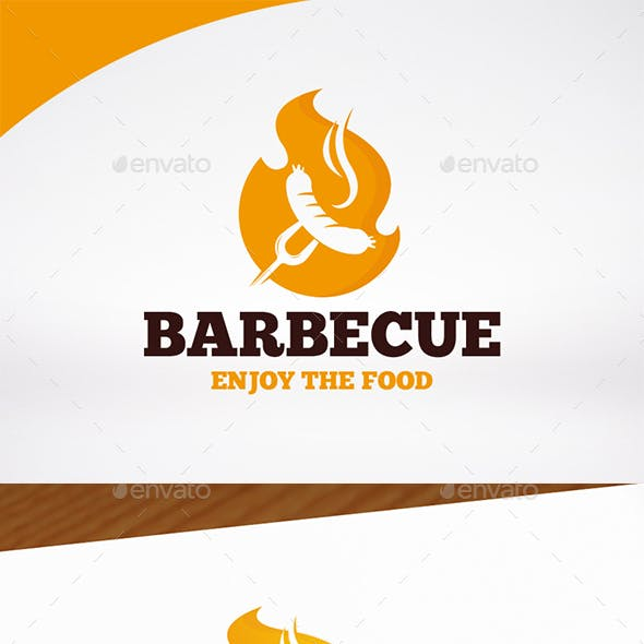 BBQ Party Logo Template