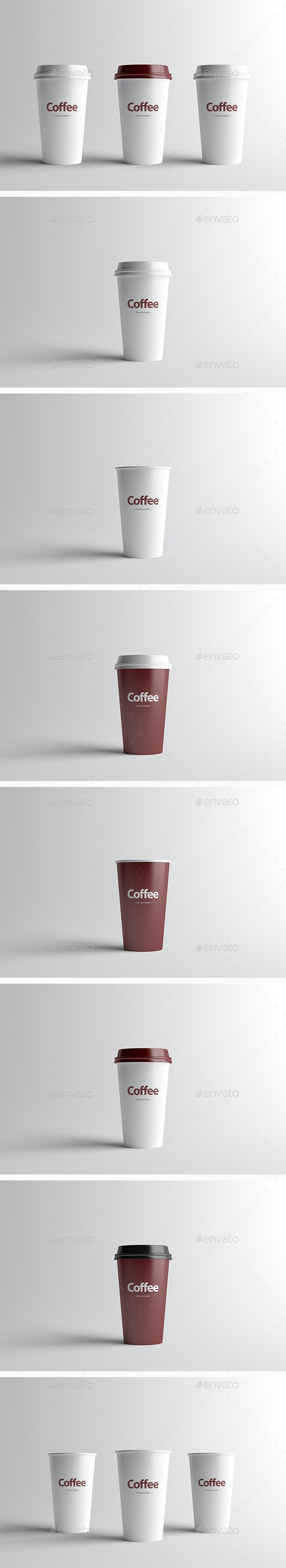 Paper Coffee Cup Packaging Mock-Up - Medium - Food and Drink Packaging