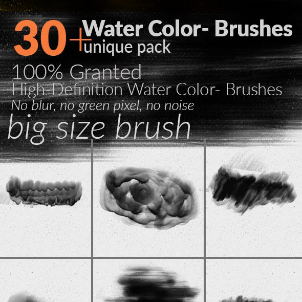 35 HD Watercolor Photoshop Brush Sets