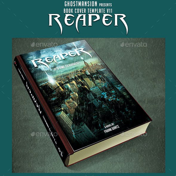 "Reaper ""Book Cover Template PSD V11"""