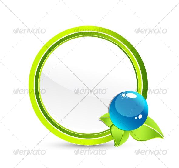 Abstract Eco symbol - Nature Conceptual