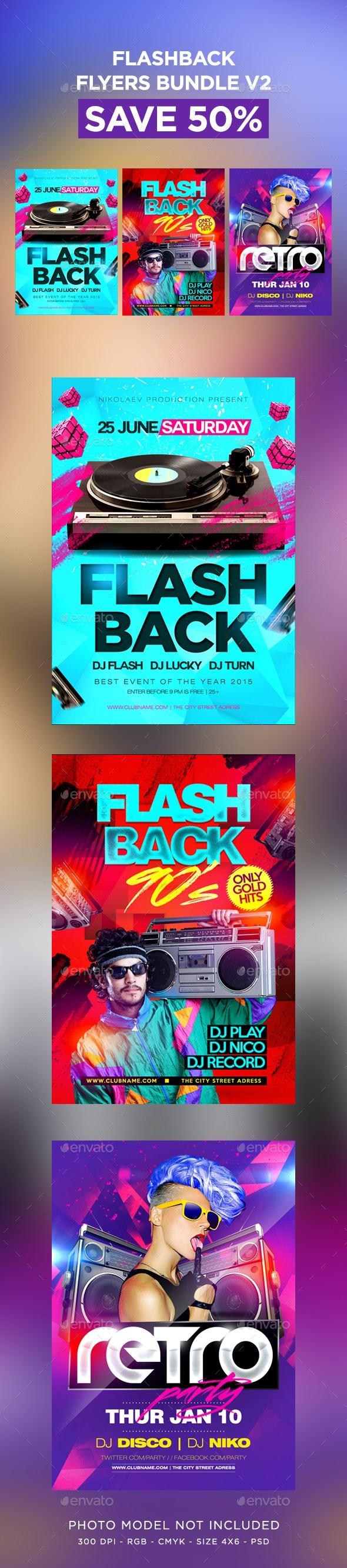 Flashback Flyers Bundle V2 - Clubs & Parties Events