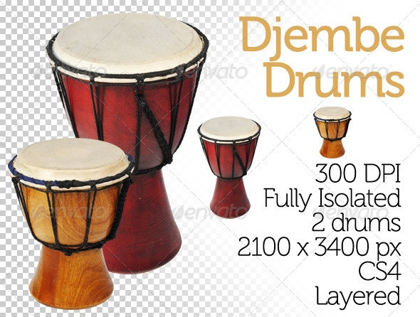 Djembe Drums - Miscellaneous Isolated Objects
