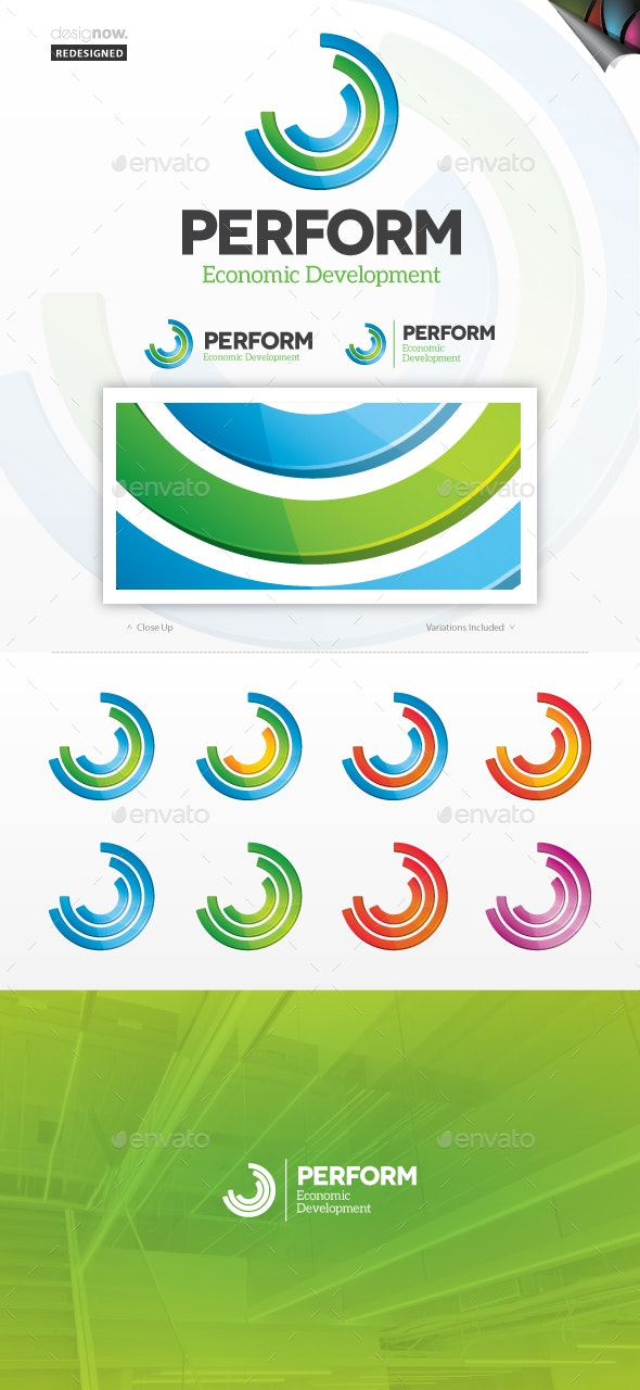 Performance Logo - Abstract Logo Templates