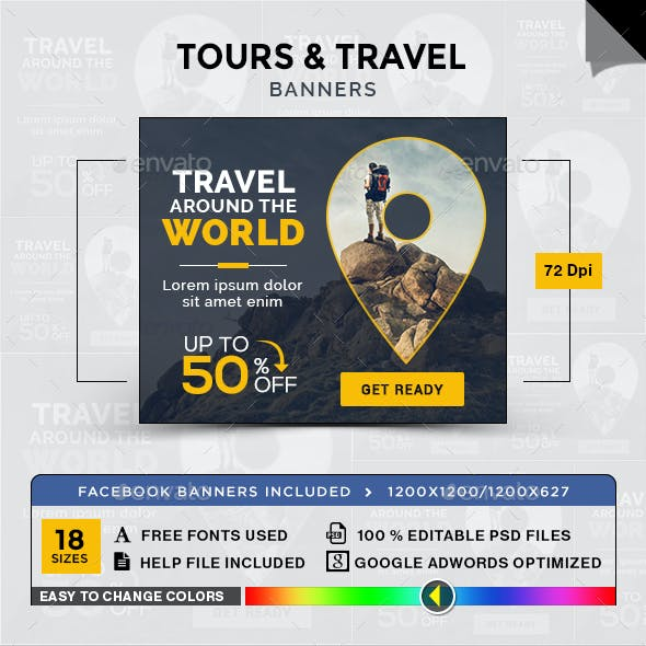 Tours & Travel Banners