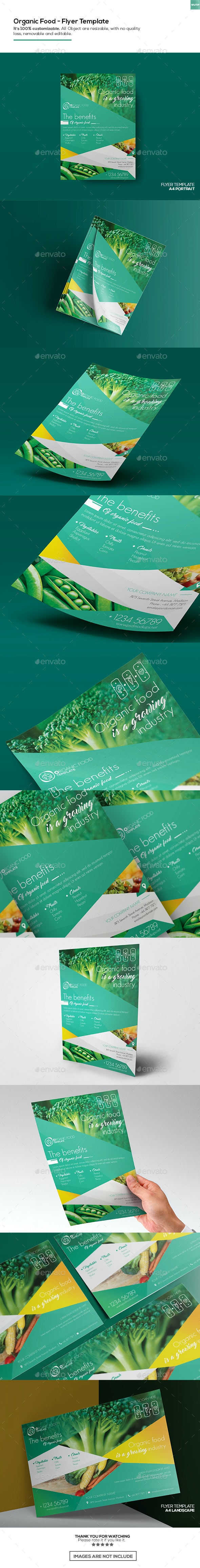Organic Food/ Flyer Template - Corporate Flyers