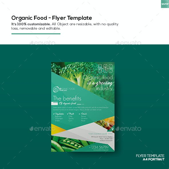 Organic Food/ Flyer Template