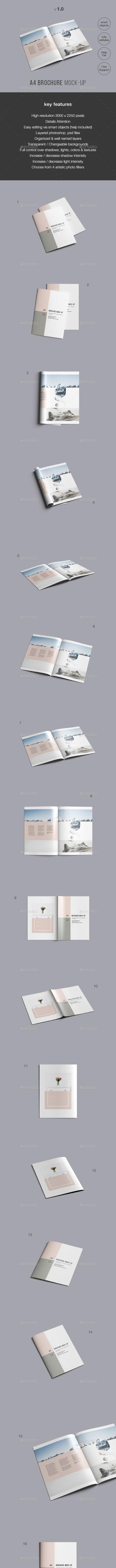 A4 Brochure Mockup - Brochures Print