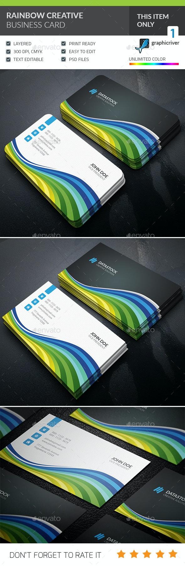Rainbow Creative Business card - Creative Business Cards