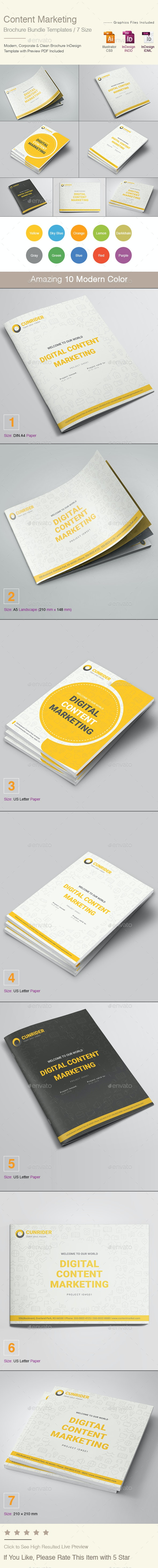 Content Marketing Brochure Bundle - Corporate Brochures