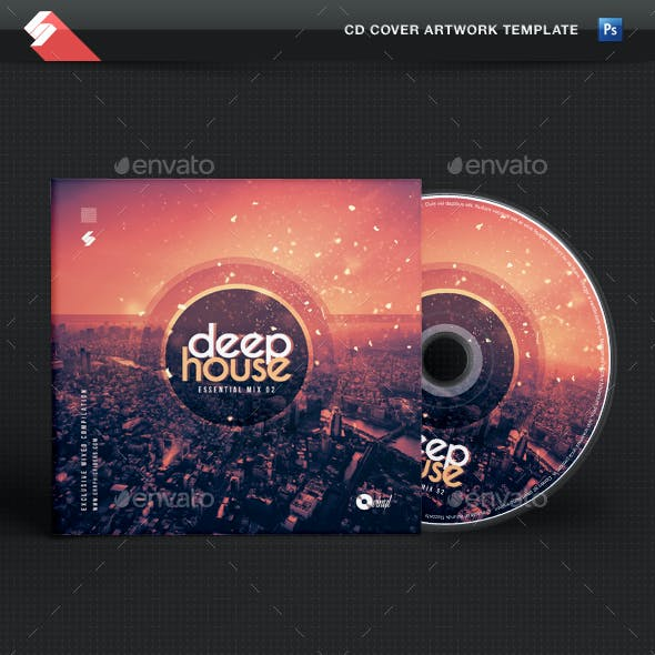 Deep House Essential vol.2 - CD Cover Artwork Template