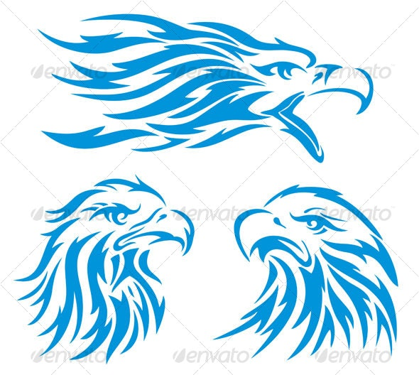 eagle head design - Animals Characters