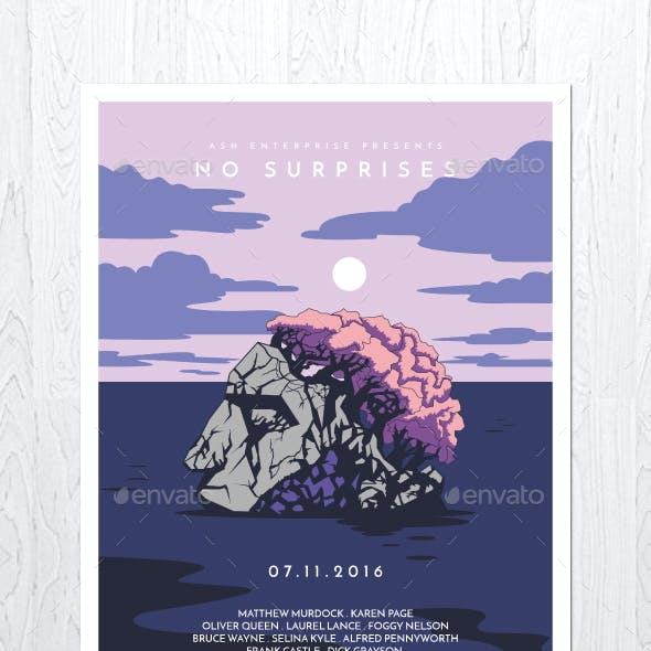 No Surprises Flyer Poster