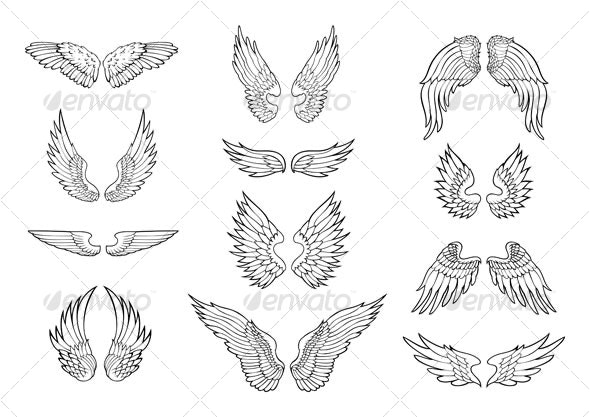 angel wings design - Decorative Symbols Decorative