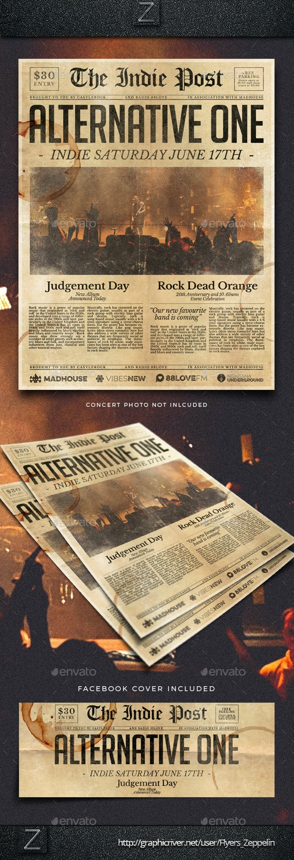 Newspaper Flyer Template Vol.2 - Events Flyers