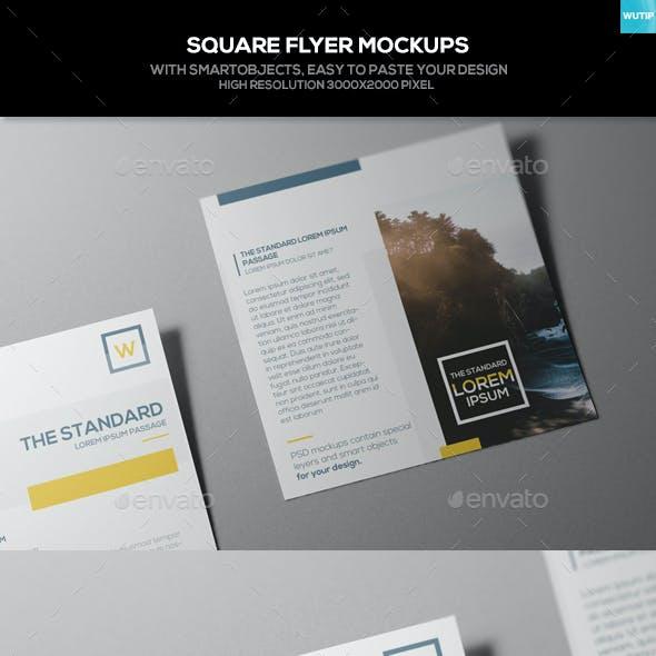 Square Flyer Mockups