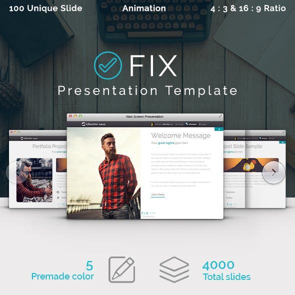 FIX - Multipurpose Presentation Template