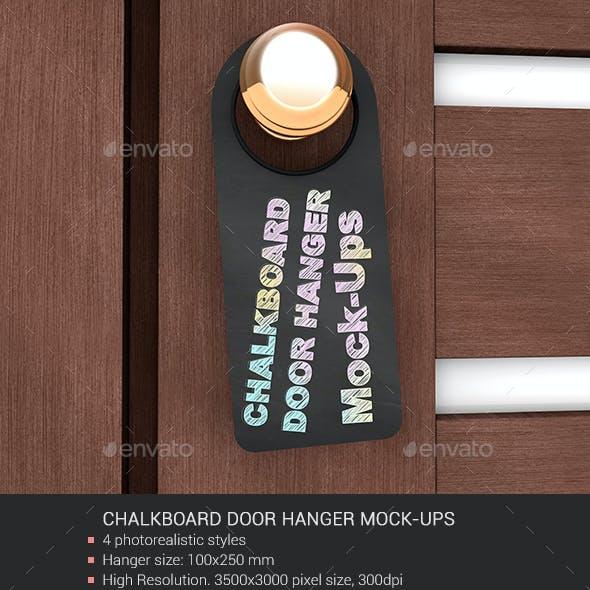 Chalkboard Door Hanger Mock-Ups