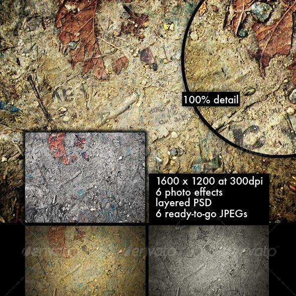 Muddy Ground Collage Grunge Texture Pack