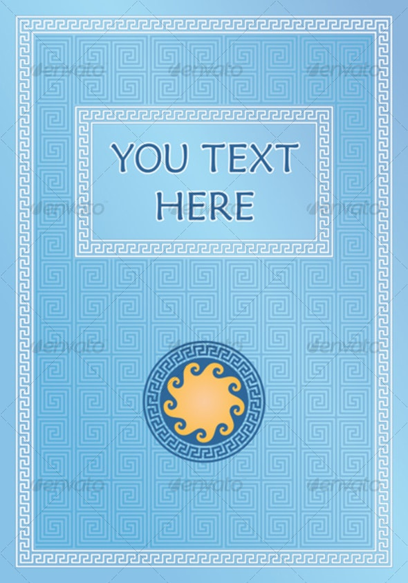 blue title page - Borders Decorative