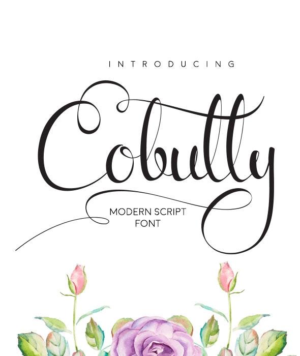 Cobully Font Script - Script Fonts