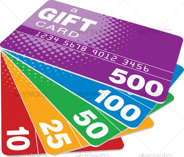 Color Gift Cards - Commercial / Shopping Conceptual