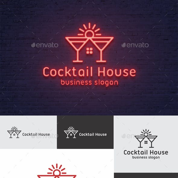 Cocktail House Logo Template