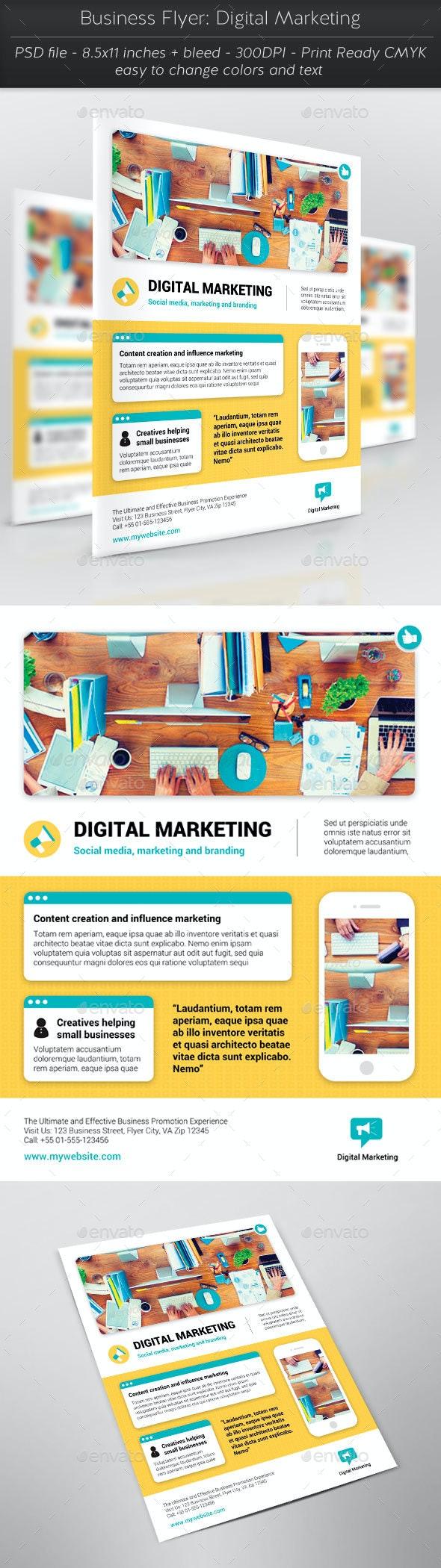Business Flyer: Digital Marketing - Flyers Print Templates