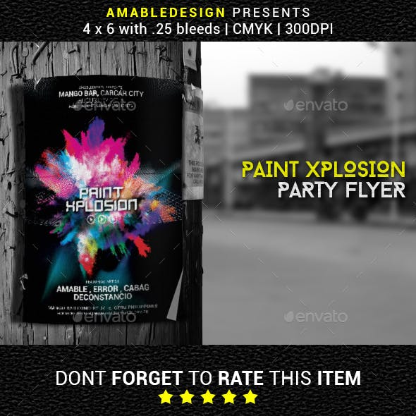 Paint Xplosion Flyer/Poster