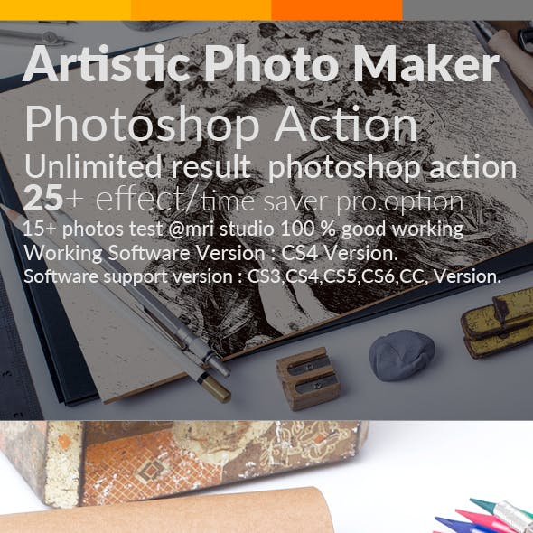 Artistic Photo Maker Photoshop Action