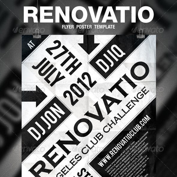 Renovatio - Typography Flyer / Poster