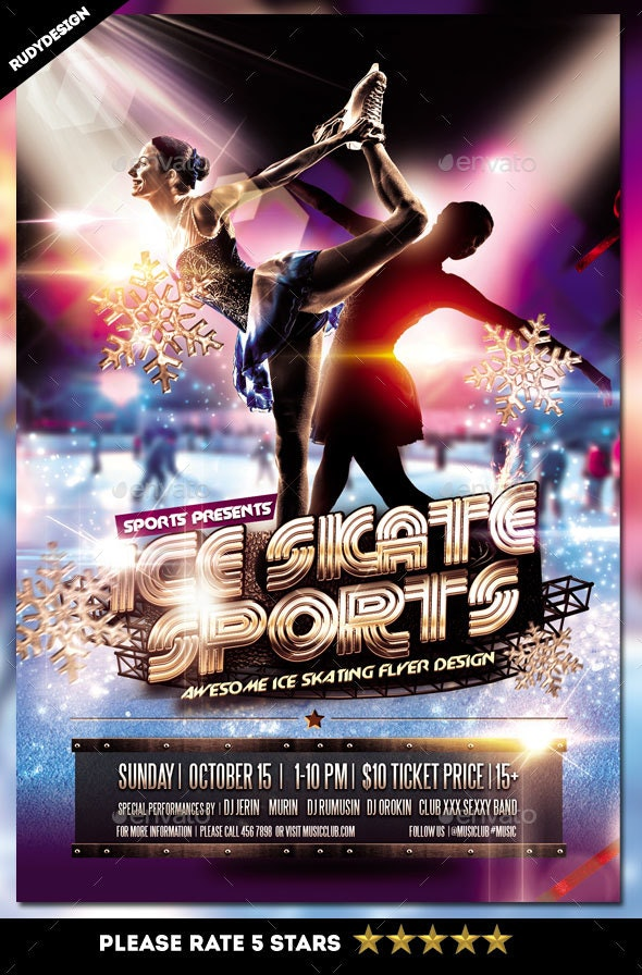 Ice Skating Sports Flyer - Sports Events
