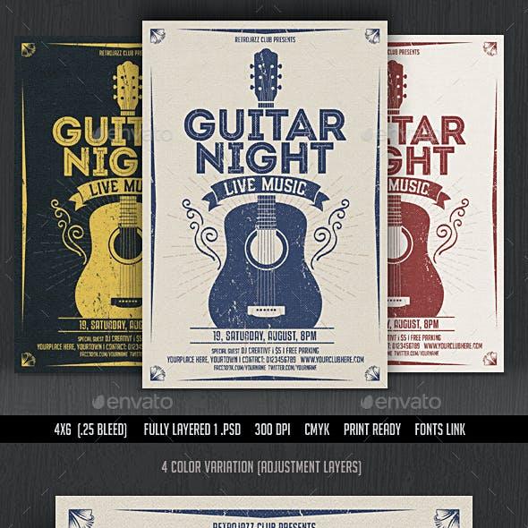 Guitar Night-Vintage Music Flyer