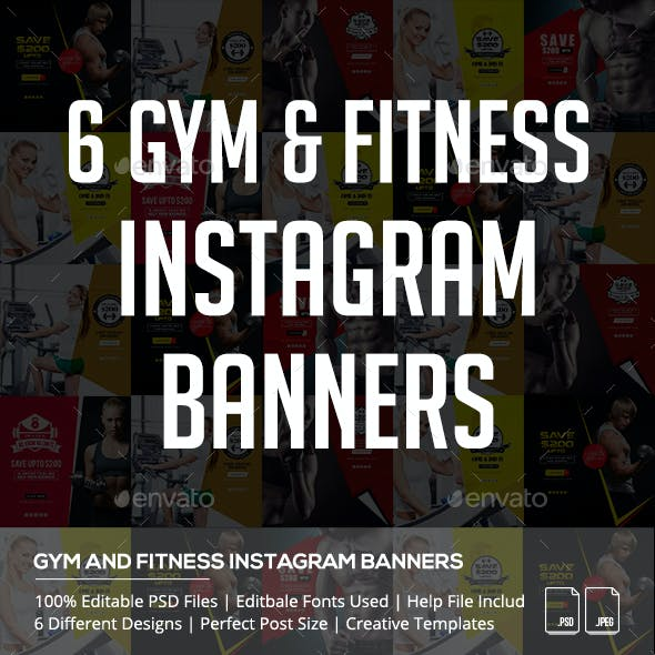 Gym and Fitness Instagram Banners