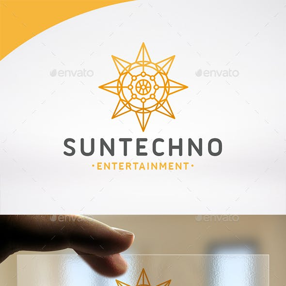Sun Tech Logo Template