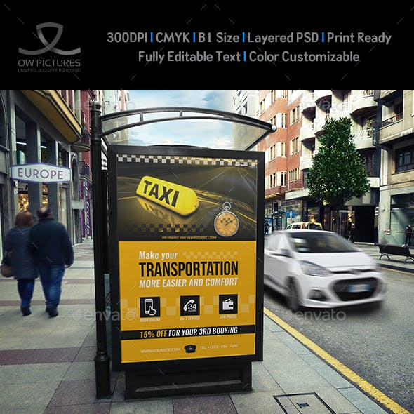 Taxi Service Poster Template