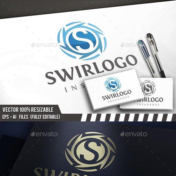 Swirl S Letter Logo