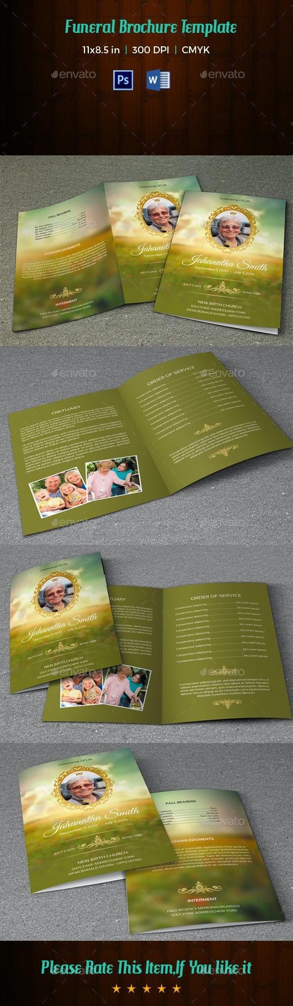 Funeral Program Template-V78 - Informational Brochures