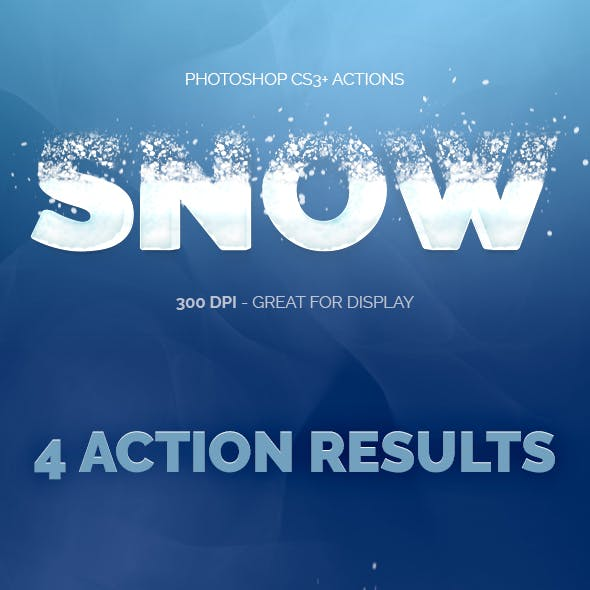 Snowy Text - Photoshop Actions