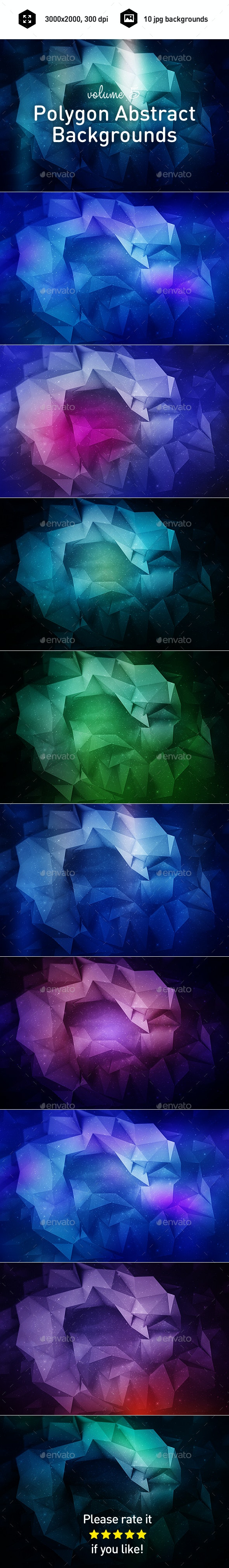 Polygon Abstract Backgrounds vol.5 - Abstract Backgrounds