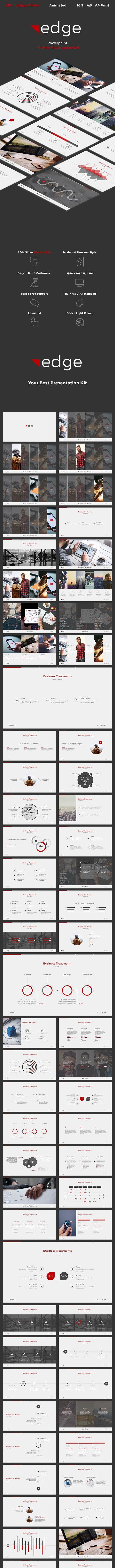 edge Powerpoint - PowerPoint Templates Presentation Templates