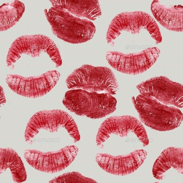 Lips Prints Seamless Pattern