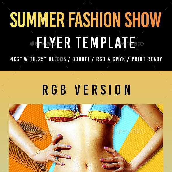 Summer Fashion Show Flyer Template