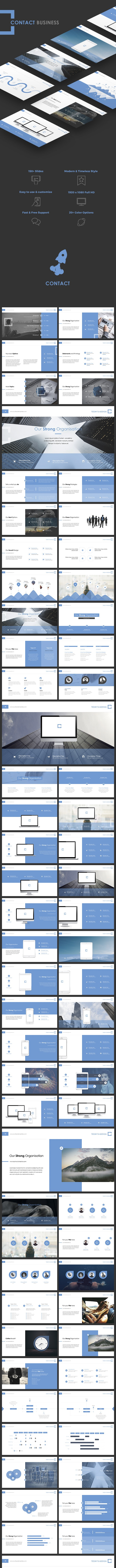 Contact Powerpoint - PowerPoint Templates Presentation Templates