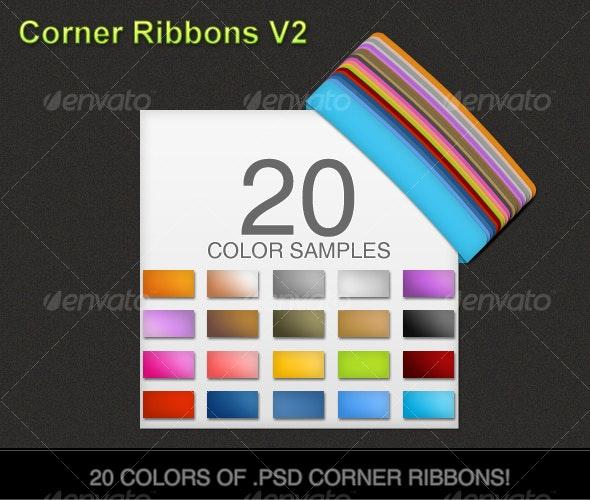 Corner Ribbons v2 - Miscellaneous Web Elements