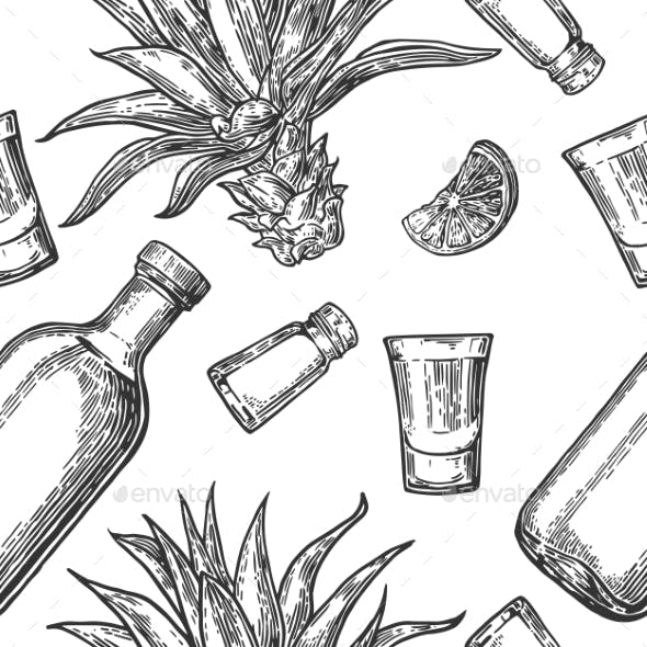 Seamless Tequila Pattern
