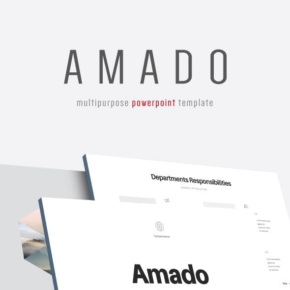 Amado - Multipurpose PowerPoint Template (V.24)