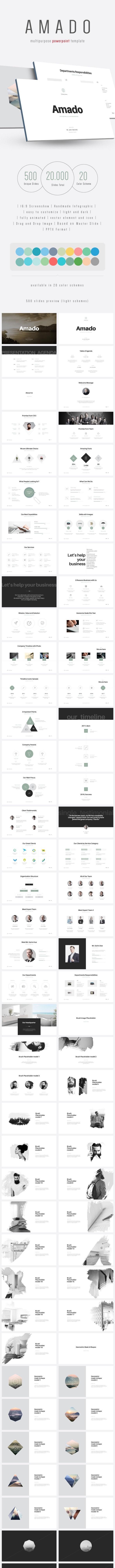 Amado - Multipurpose PowerPoint Template (V.24) - PowerPoint Templates Presentation Templates